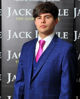 Blue Check Three Piece Jack Doyle Suit Suit Distributors Cork