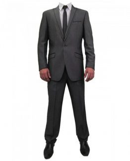 Frankie Charcoal Grey Two Piece Slim Fit Suit Suit Distributors Cork
