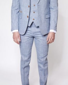 Oscar light Blue Tweed Three Piece Suit Suit Distributors Cork
