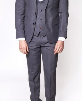 Richmond Grey Sharkskin Three Piece Suit Suit Distributors Cork