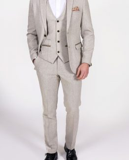 Mason Cream Tweed Wing Collared Three Piece Suit | Suits Distributors Cork